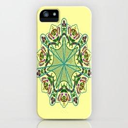 Mandala in florals iPhone Case