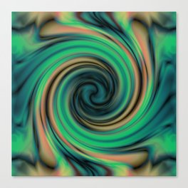 Green Maelstrom Canvas Print