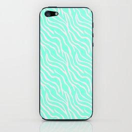 Green zebra iPhone Skin