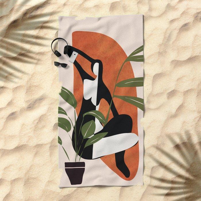 Abstract Female Figure 20 Beach Towel