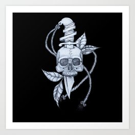 Headache (black background) Art Print
