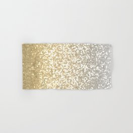 Gold and Silver Glitter Ombre Hand & Bath Towel