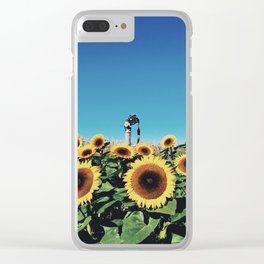 Sunflowers & Snapshots Clear iPhone Case