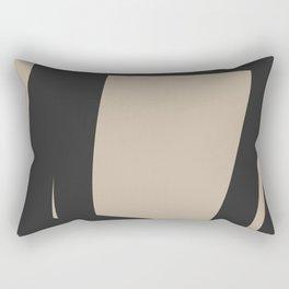 Neutral Abstract 4A Rectangular Pillow