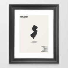 New Jersey Map Framed Art Print