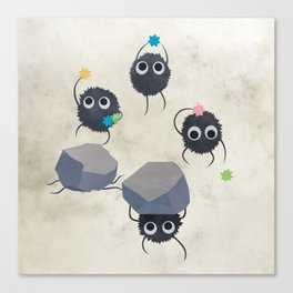 Spirited away - Susuwatari Creatures illustration - Miyazaki, Studio Ghibli Canvas Print