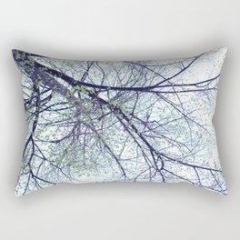 Tree reverse perspective, green leaves, blue sky Rectangular Pillow