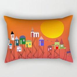 Cidade Suspensa Rectangular Pillow