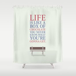 Lab No. 4 - Forrest Gump Movies Inspirational Quotes Poster Shower Curtain