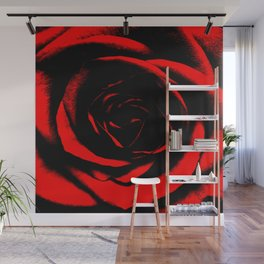 Bright Red Rose : Pretty Flowers Wall Mural