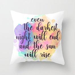 Darkest Night Throw Pillow