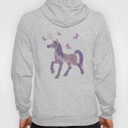 Lilac Unicorn .. fantasy art Hoody