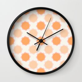 Orange sunflowers Wall Clock