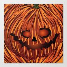 Scary Pumpkin Canvas Print