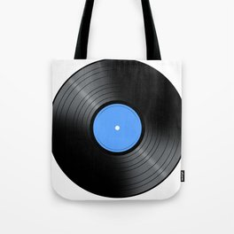 Music Record Blue Tote Bag