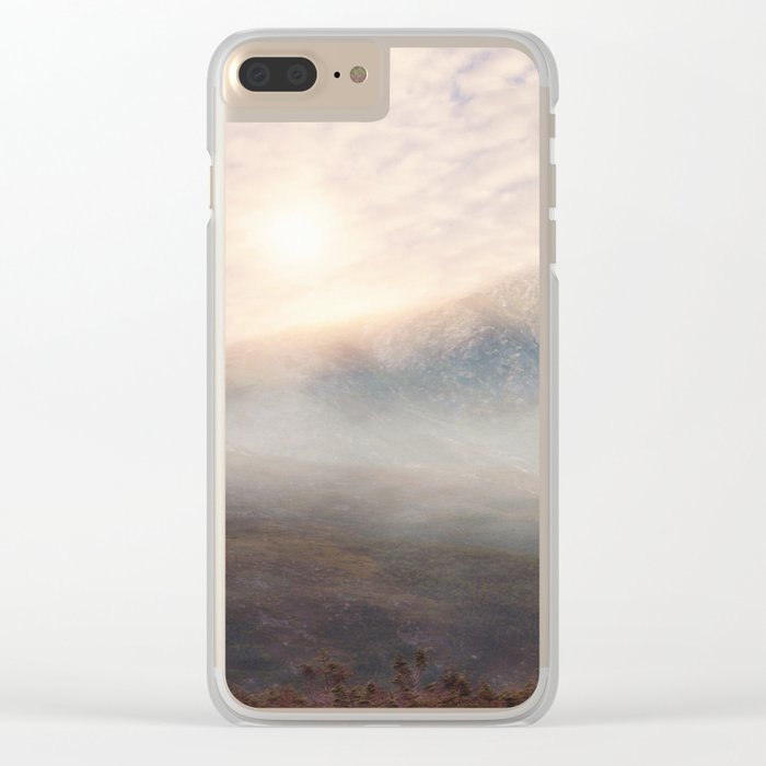 Pastel vibes 38 - Las Montañas Clear iPhone Case