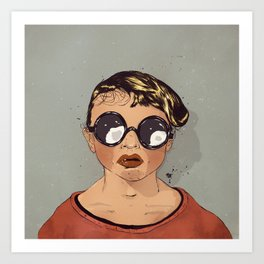 Boy With Glasses Art Print