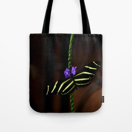 Zebra Longwing Butterfly Tote Bag