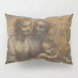 The Virgin and Child with St Anne and St John the Baptist by Leonardo da Vinci Pillow Sham
