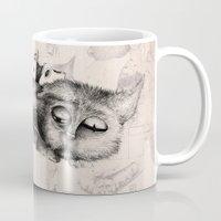 shoe Mugs featuring shoe cat by Andreas Derebucha