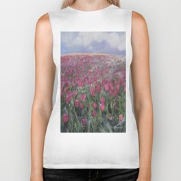 Flower Fields Biker Tank