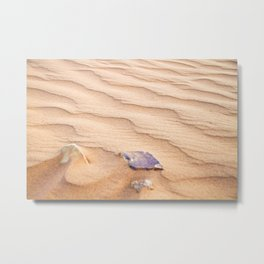 Sand Ripples in the Sahara Desert Metal Print