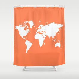 Coral Elegant World Shower Curtain