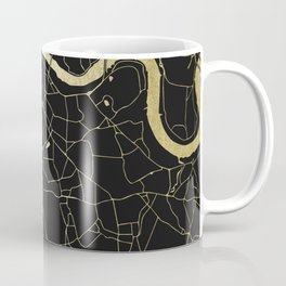 London Black on Gold Street Map Coffee Mug