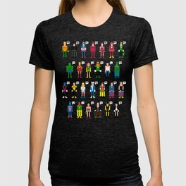 Pixel Superhero Alphabet 2 T-shirt