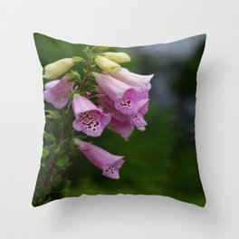 Foxgloves Throw Pillow