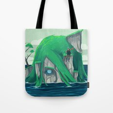 The wanderer and the ancient island Tote Bag