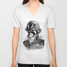 WRESTLING MASK 11 Unisex V-Neck