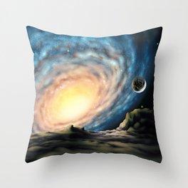 Silent Backyard Throw Pillow