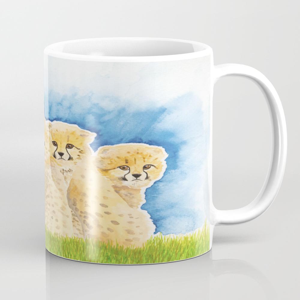 Cheetah Cubs Coffee Cup by Irisclose MUG8318013