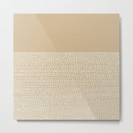 Riverside - Sand Metal Print