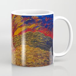 1936 American Masterpiece 'Coyote on the Road' by Cora Easton Coffee Mug