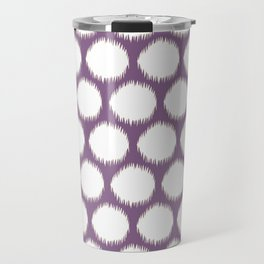 Violet Asian Moods Ikat Dots Travel Mug