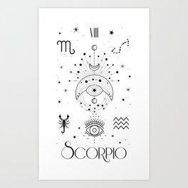 Scorpio Horoscope Zodiac Art Print