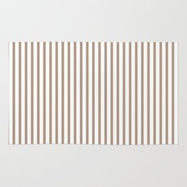 Warm Taupe Stripes Rug