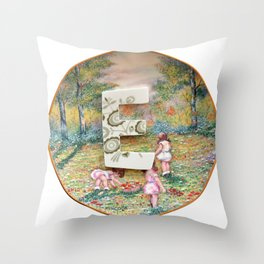 Love Letters to Dinnerware - E Throw Pillow