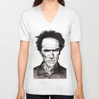 clint eastwood V-neck T-shirts featuring Clint Eastwood by Danielle Ross