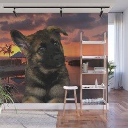 Loki German Shepherd Wall Mural