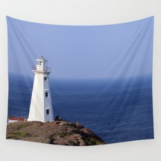 Blue Sky Lighthouse Wall Tapestry