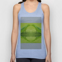 Leaves reflection throw Green Background Unisex Tank Top