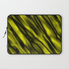 A bright cluster of yellow bodies on a dark background. Laptop Sleeve