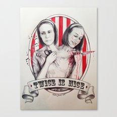 Tattler Twins  Canvas Print