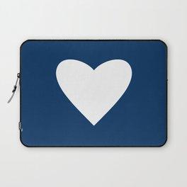 Navy Blue Heart Laptop Sleeve