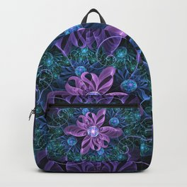Bejeweled Butterfly Lily of Ultra-Violet Turquoise Backpack