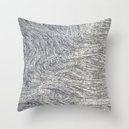 Real Marble Swirl Natural Throw Pillow