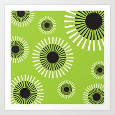 Dandelion Adrift Art Print